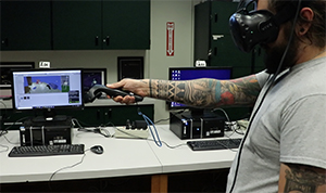 Gaming student at MHCC works on class project.