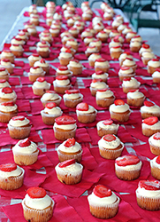 Expect strawberry cupcakes from the Tollgate Inn Bakery in Sandy.