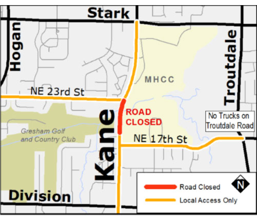 Kane Road Closure