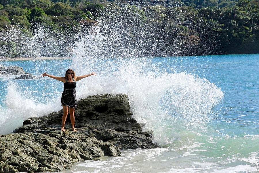 Suzanne Zalokar makes a splash in Costa Rica