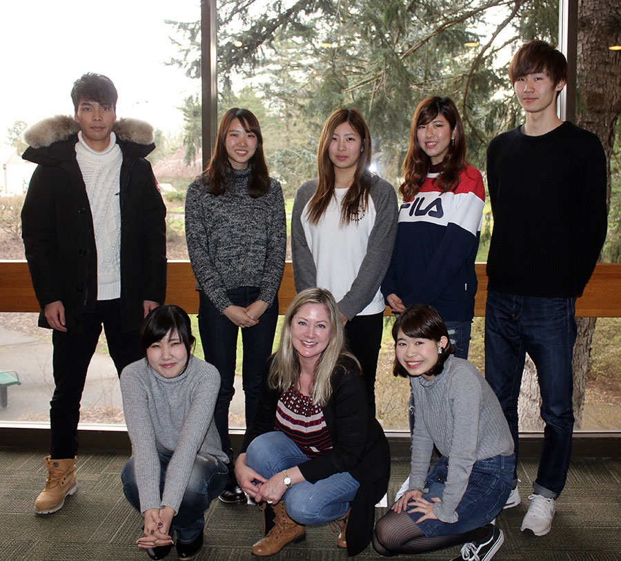 This year's students from Ryukoku University: standing, from left to right, Takuro Kohira, Rika Nishimoto, Sayuri Shiraishi, Saki Tomari and Akito Kiyokane. Seated, from left to right, Minami Hori, MHCC English as a foreign language instructor Jennifer Conrad and Aoi Mizuno